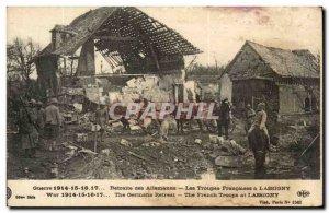 Old Postcard Retreat Lassigny German (ass donkey mule)