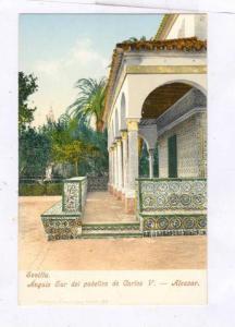 Sevilla , Angulo Sur del pabellon de Carlos V.-Alcazar, SPAIN, 1890s-1905