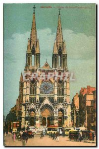 Old Postcard Marseille Church of St. Vincent
