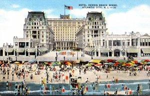 New Jersey Atlantic City Hotel Dennis Beach Scene