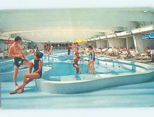 Pre-1980 SWIMMING POOL SCENE Swimming Pool On Oceanic Cruise Ship Boat AF2318