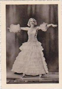 GARBATI CIGARETTE CARD FAMOUS DANCERS NO 196 ROSY BARSONY