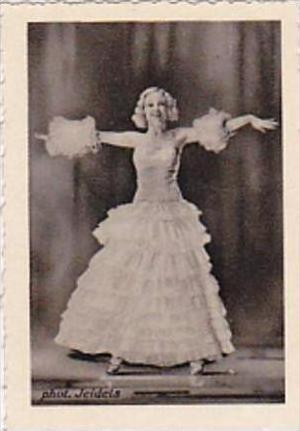 GARBATI CIGARETTE CARD FAMOUS DANCERS NO 196 ROSY BARSONY