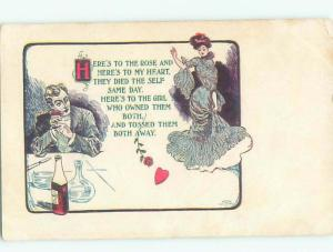 Divided-Back PRETTY WOMAN Risque Interest Postcard AA7866