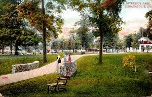 Indiana Indianapolis Scene In Riverside Park