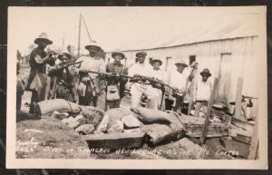 Mint RPPC Port Cortes Honduras Real Postcard postcard Blues In Trenches At Lagun