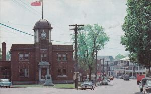 The Post Office and a section of the Main Street,  Waterloo,  Quebec,  Canada...