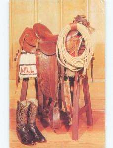 Pre-1980 ANTIQUE WILL ROGERS SADDLE AT MUSEUM Claremore - Near Tulsa OK E6327