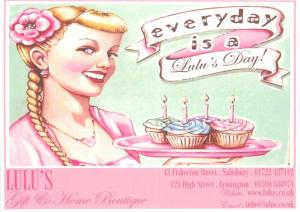 Lulu Home Boutique advertising postcard