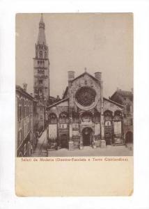Saluti Da Modena (Duomo-Facciata e Torre Ghirlandina), Modena, Emilia-Romagna...