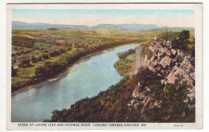 P413 JL old postcard lovers leap RR potomac river hancock maryland