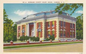 Kershaw County Court House, Camden, South Carolina, 30-40s