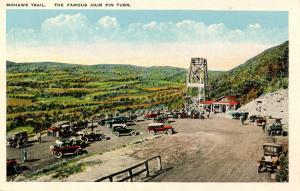 MA - Berkshires, Mohawk Trail. Hairpin Turn