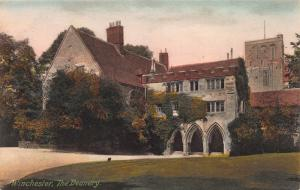 The Deanery, Winchester, England, Early Hand Colored Postcard, Unused