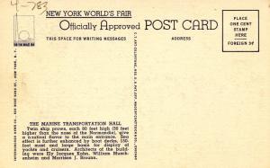 NY - New York World's Fair, 1939. The Marine Transportation Hall