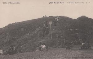 Saint Malo Cote D'Emeraude Escalier L'Escalier French France Vintage Postcard