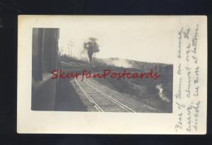 RPPC RAILROAD TRAIN CONTINENTAL DIVIDE VINTAGE REAL PHOTO POSTCARD