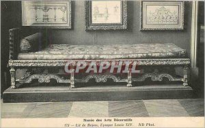 Old Postcard Musee des Arts Decoratifs Rest Bed Louis XIV period