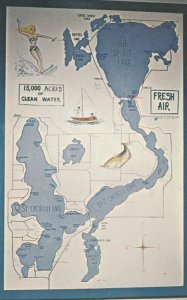 Iowa Great Lakes , Map , USA , 1950-60s