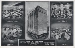 Hotel Taft ~ New York City NY Multi-view Advertising AD Vintage Postcard