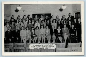 Postcard WV Martinsburg First Baptist Sunday School Intermediate Dept 1940s S19