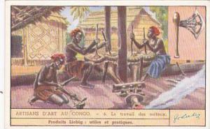 Liebig Trade Card S1437 Congolese Craftmanship No 6 Le travail des metaux