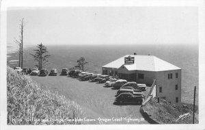 Oregon Coast Hwy 101 Sea Lion Caves Sawyers 1950s RPPC Photo Postcard 21-5980