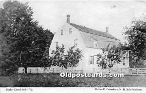 Old Vintage Shaker Post Card Church Built 1792 E Canterbury, New Hampshire, N...