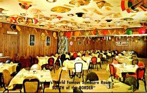 South Carolina South Of The Border Pedro's Famous Restaurant Sombrero Room