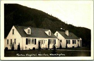 Morton, Washington RPPC Real Photo Postcard MORTON HOSPITAL c1940s