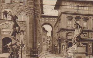 Italy Firenze Interno della Loggia de' Lanzi 1932