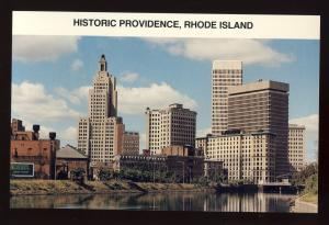 Providence, Rhode Island/RI Postcard, Historic Downtown, Superman Building
