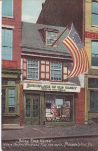 PHILADELPHIA, Pennsylvania, 1900-1910's; Betsy Ross House, Where The First Am...