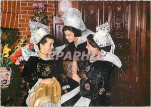 Postcard Modern Brittany Coiffee and costume Bannalec Scaser Quimperle and ar...
