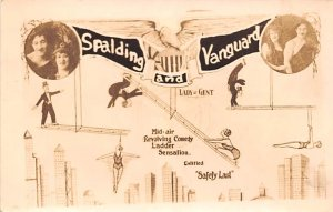 Circus Post Card Spalding and Vanguard Mid-air Revolving Comedy Safety ...