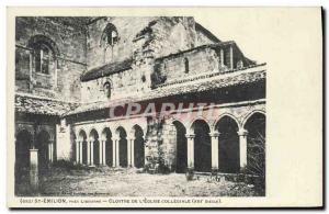 Old Postcard Libourne Saint Emilion Pres Cloitre L & # 39Eglise Collegiate