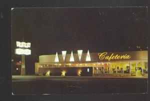 PASADENA CALIFORNIA ROUTE 66 CROWN RESTAURANT NIGHT VINTAGE POSTCARD