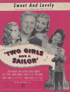 Sweet & Lovely Two Girls & A Sailor 1940s Sheet Music