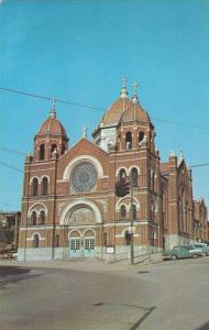 Exterior, St.Nicholas Catholic Church and Rectory,Zanesville, Ohio,40-60s