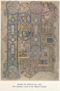 Book of Kells , Opening words of St Mark's Gospel ; 50-70s
