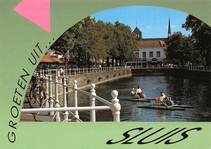 Netherlands Groeten uit... Sluis De Kaai, de vroegere haven van Sluis
