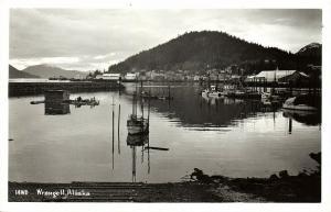 Wrangell, Alaska, Harbour Scene (1950s) RPPC