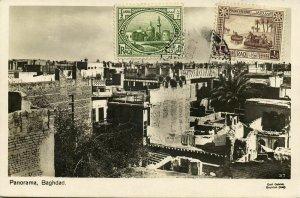 iraq, BAGHDAD BAGDAD بَغْدَاد, Panorama (1930s) RPPC Postcard