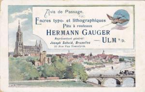 ULM s/D. , Germany , PU-1899 ; ADV for printer