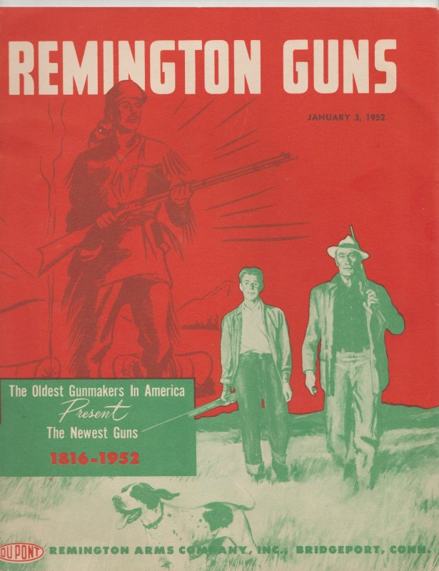 1952 Remington Guns Catalog, Illustrated