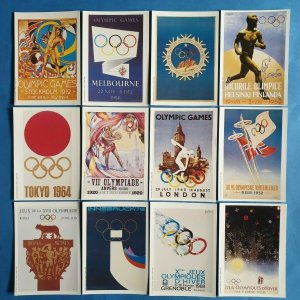 Set of 12 Olympic Games Poster Postcards by Mars (1991) 43Z