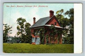 Philadelphia PA-Pennsylvania, William Penn's Mansion, Fairmount Vintage Postcard
