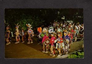 WI Winnebago Snake Dance Indians Stand Rock Wisconsin Dells Chiefs Postcard
