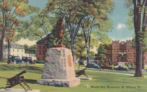 Vermont St Albans World War Memorial Curteich