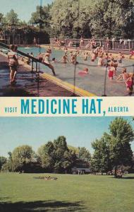 Double View , MEDICINE HAT , Alberta , Canada , 40-60s Rotary Park, Swimming ...